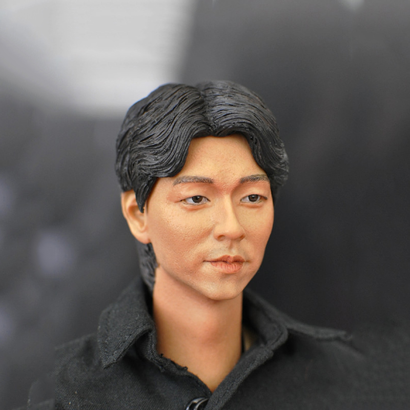 South Korea Famous Actor Gong Yoo 1/6 Scale Male Head Sculpt Mens Head For 12 Inches Bodies Freeshipping 1 6 scale the game of death bruce lee head sculpt and kungfu clothes for 12 inches figures bodies