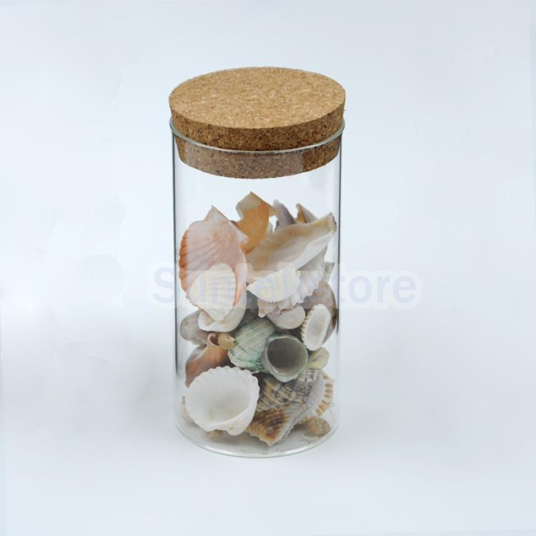 Clear Glass Canister Snack Sugar Coffee Tea Storage Jar W Cork Kitchen Decor China
