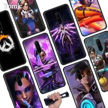 Anime Overwatch Black Soft Case for Oneplus 7 Pro 7 6T 6 Silicone TPU Phone Cases Cover Coque Shell
