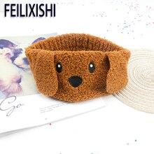 Cartoon Dog Coral Fleece Headband For Women Makeup Face Washing Headwear Womens Headbands Removing Hair Accessories