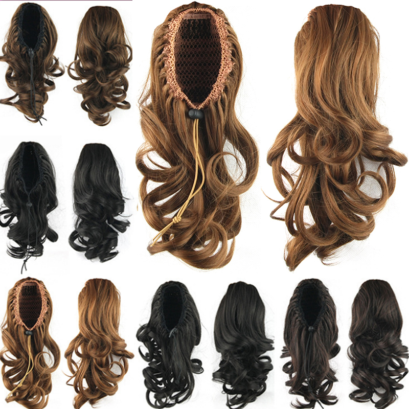 36cm Fake Ponytail Hairpieces Bun Synthetic Hair Tress