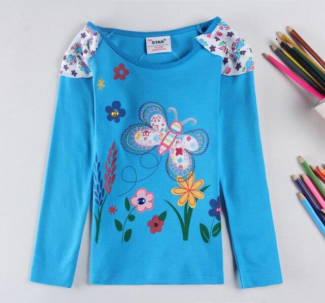 children kids girl t shirt 2016 new girls' fashion t shirts baby printed floral girl t shirts children clothing casual t shirts