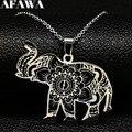 2021 mode Schwarz Silber Farbe Edelstahl Kette Halskette für Frauen Elefanten Choker Halskette Schmuck collares mujer N18748