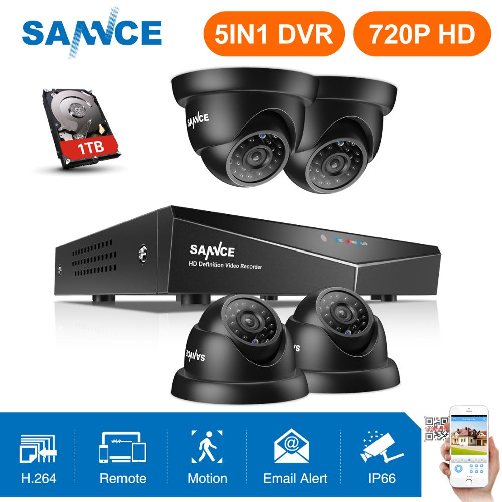 SANNCE 1080N 8CH Onvif CCTV DVR 720P HD IR In//Outdoor Security Camera System 1TB