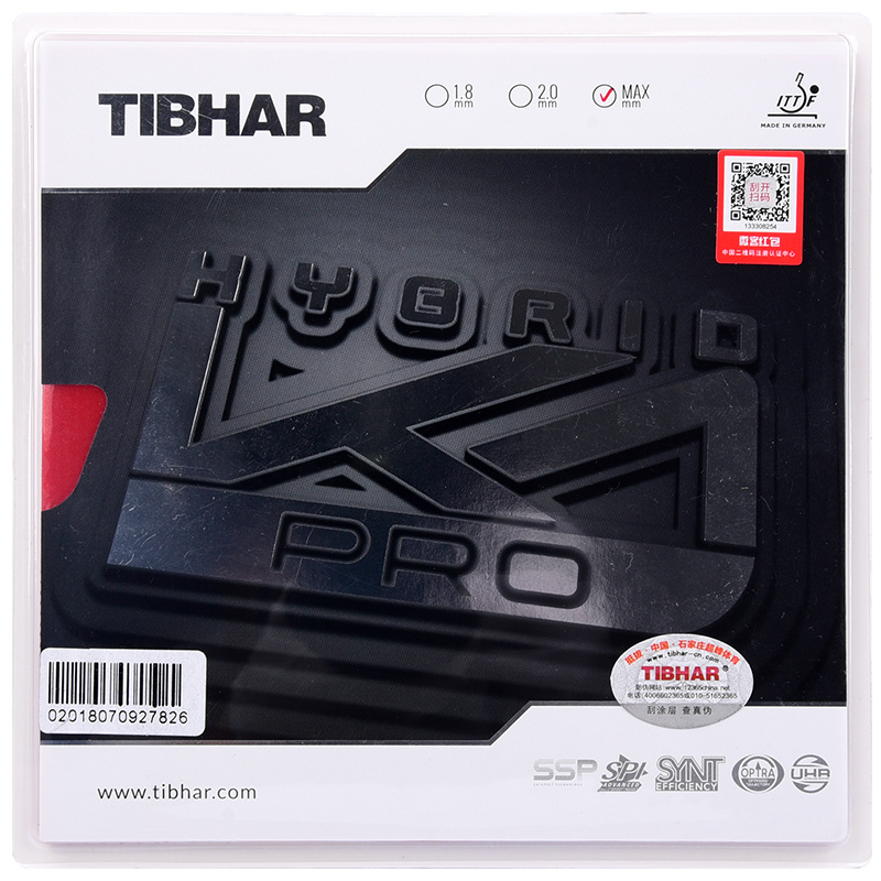 Tibhar High Quality Hybrid Pro K1 National Team Use Pips in Table Tennis Rubber Ping Pong