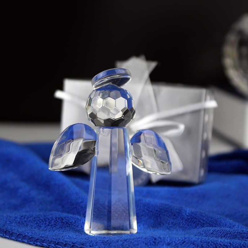 12ชิ้น/ล็อตโชคดีคริสตัลเทวดาเด็กอาบน้ำล้างบาปของขวัญแต่งงานของที่ระลึกงานแต่งงาน