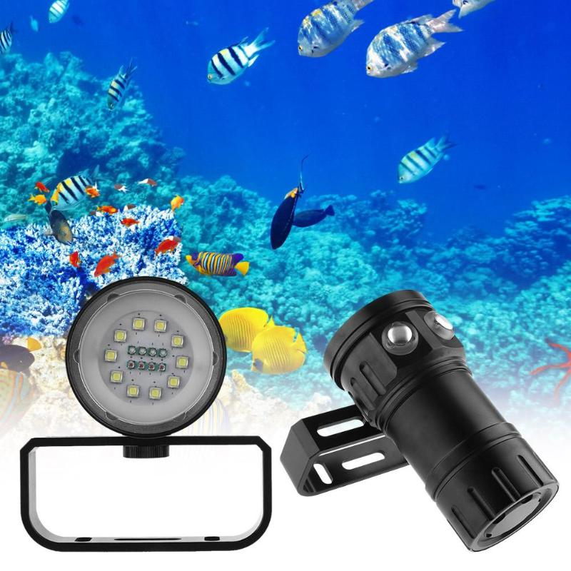 18LED Portable Underwater Diving Light Video Photography Lamp Flashlight White Red Blue LED Underwater Light Waterproof Torch portable waterproof diving led flashlight photography underwater video torch light
