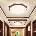 Круглый потолочный светильник из цельного дерева в китайском стиле для балкона  прохода  коридора  входного освещения  прихожей  кабинета  п...