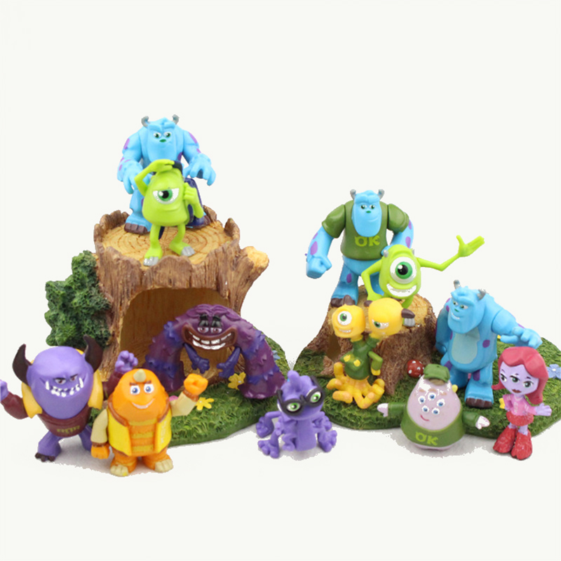 12pcs/lote Pixar Monsters University Figure Inc.Monsters Action Figure Children's Toys Movie Figura Decoration Birthday Model