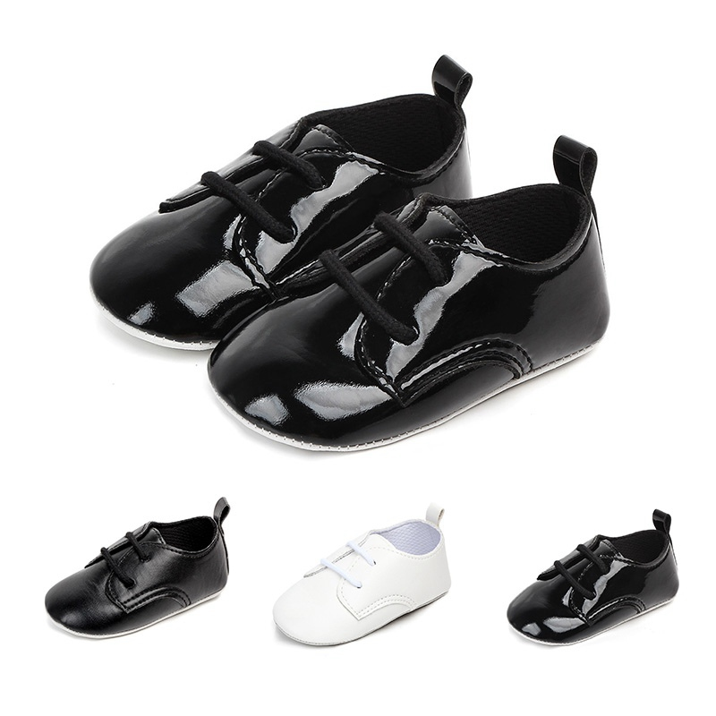 2018 PU Leather British Style Baby Shoes Kids Shoes with Air Hole Anti slip Unisex Footwear First Walkers for 0-12M