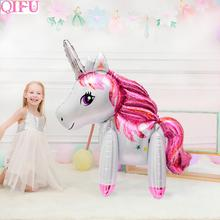 Big Unicorn Balloon Happy Birthday Party Decor Kids Balloons Foil Baloon Giant