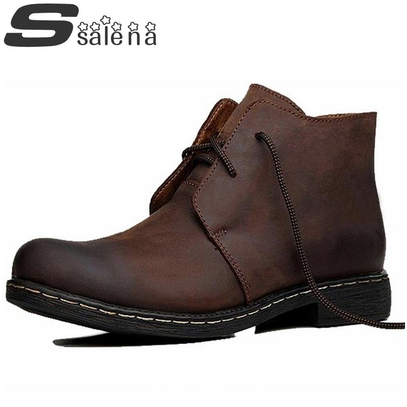 100% Cow Leather Boots Men Genuine Leather Shoes Top Quality Outdoot Shoes Hot Sale A200