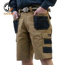Мужские тактические шорты в стиле милитари, водонепроницаемые шорты-бермуды из ткани Оксфорд Rip Stop со множеством карманов, большие размеры, ...