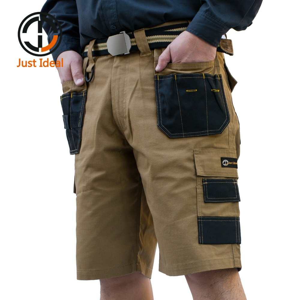 2019 الرجال السراويل التكتيكية العسكرية أكسفورد للماء التمزق توقف قصير متعدد جيب سراويل الرجال الصيف برمودا زائد الحجم ID625