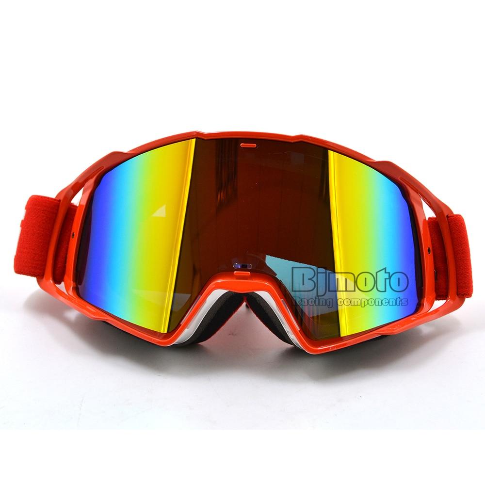 MG-021A-WH-RD Цветные линзы Goggle Off Road Мотокросс Очки Очки Мотоцикл Goggle Dirt Bike Racing Google