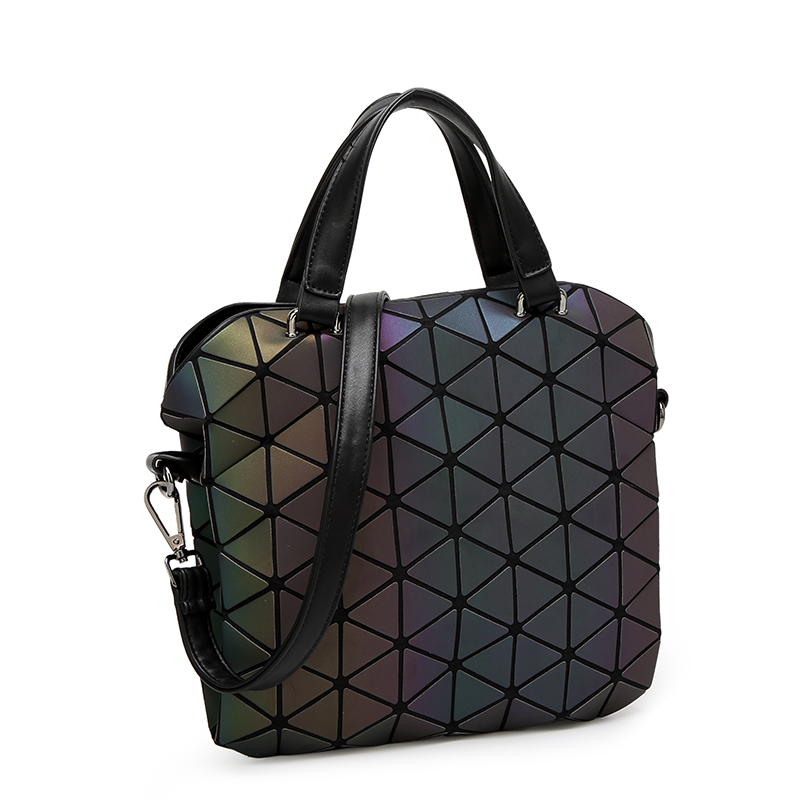 382e557dbdbf Japanese Style Luminous Holographic Bao Shoulder Bag Women Diamond Laser  Geometry Crossbody Bags Cube Folding Large Tote Handbag-in Top-Handle Bags  from ...