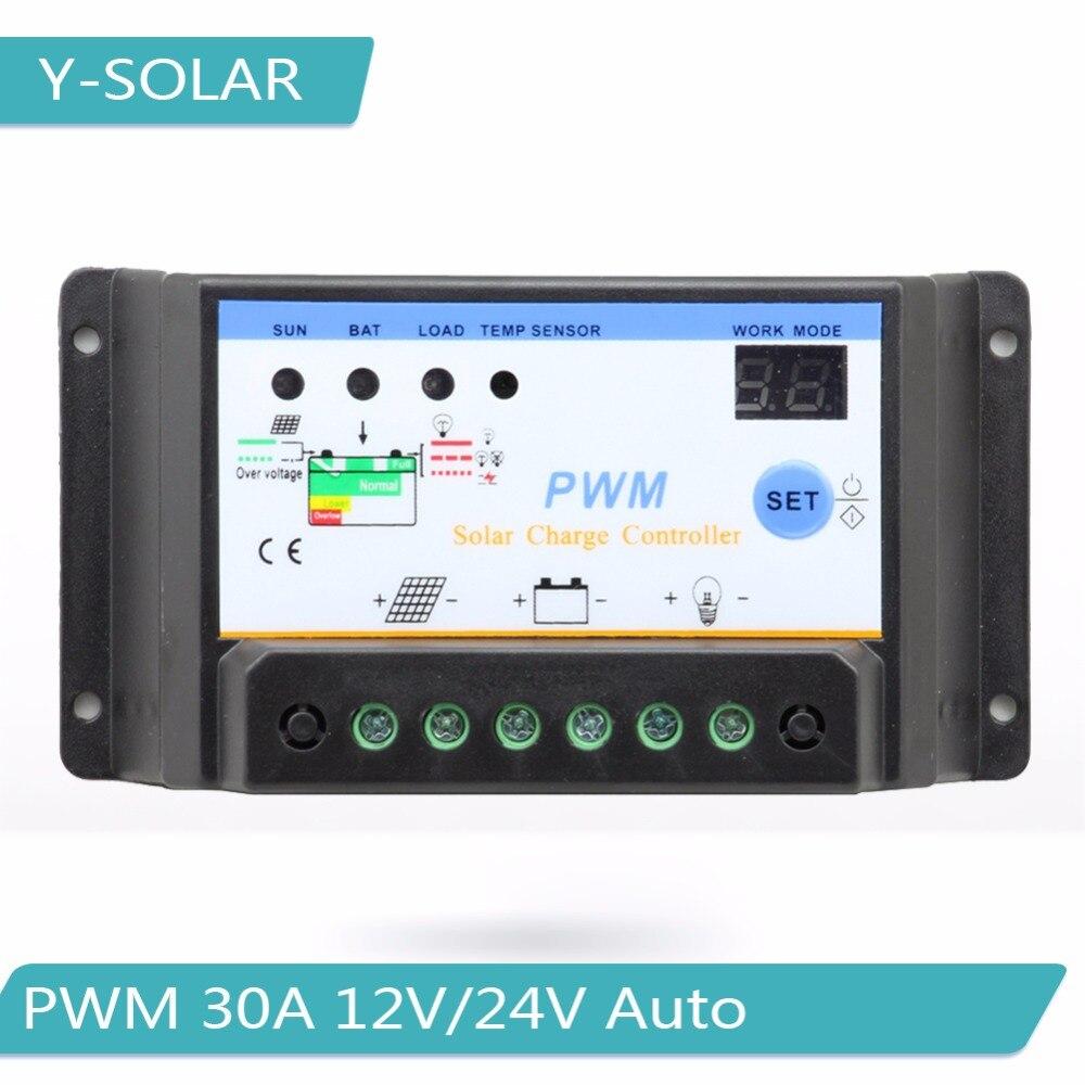 PMW Solar Charger Controller 12V 24V 48V LED Auto Adapt Panel Battery