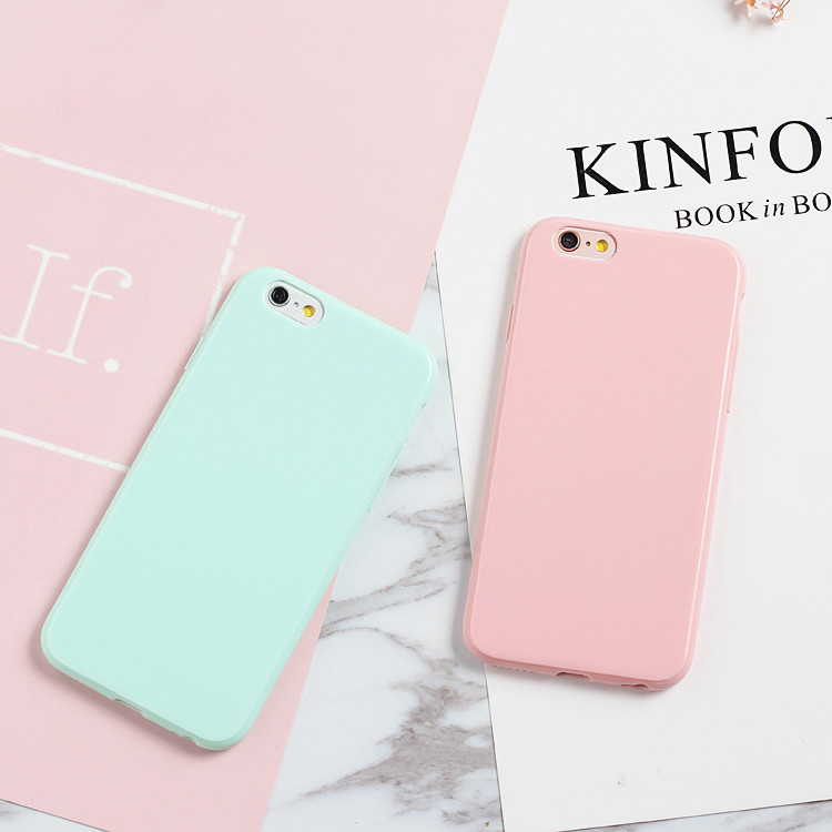 quality design ce938 baf99 Smooth Candy Soft TPU Case For IPhone X Case Silicon For IPhone 4 4S 5 5S  5C 6 6S 7 8 Plus Back Phone Cover Cases Capa Fundas