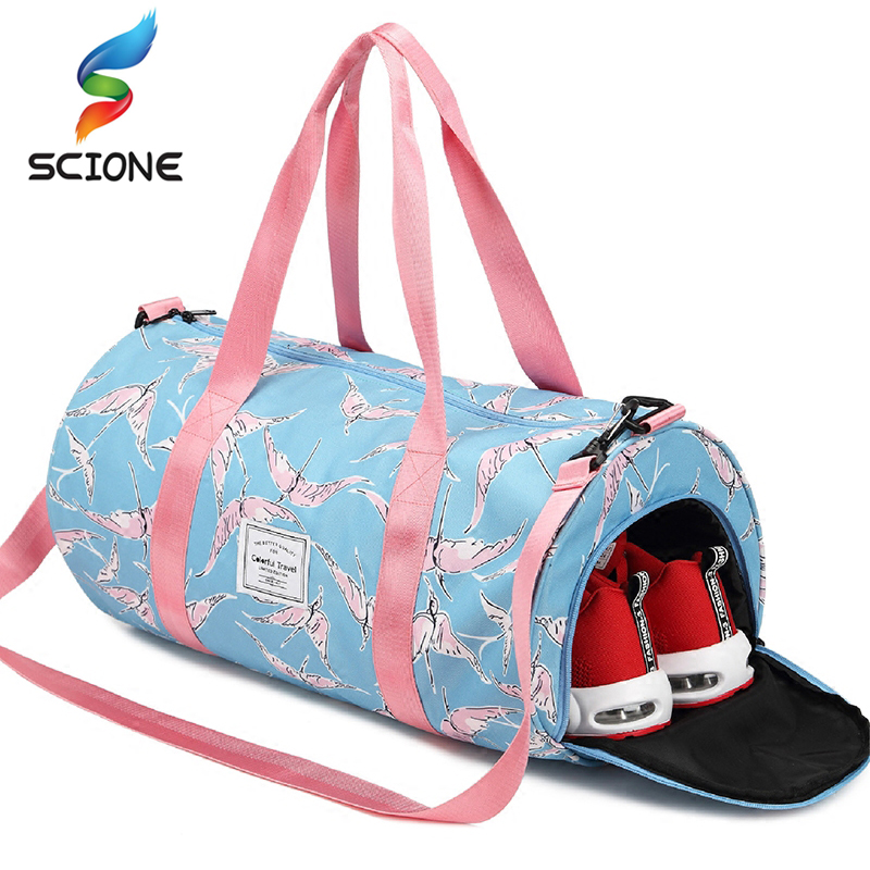 e8ef70e3f66f Special Hot Outdoor Waterproof Nylon Sports Gym Bags Men Women Training  Fitness Travel Handbag Yoga Mat Bag Sac De Sport-in Gym Bags from Sports ...