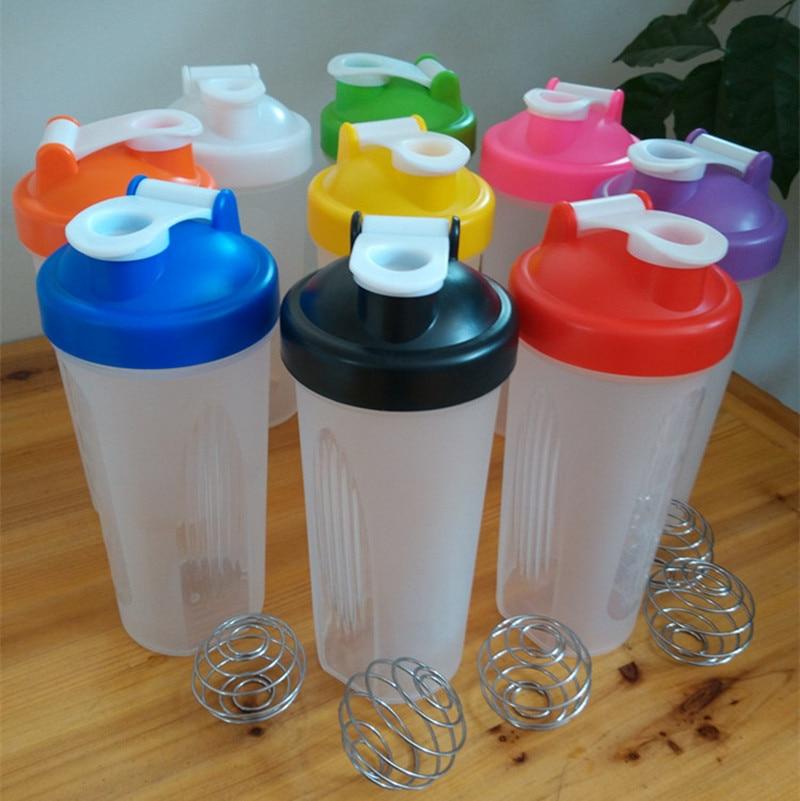 Горячие Белка Шейкер Бутылка 600 мл Спортивная бутылка для воды с герметичной крышкой Пластик мой шейкер бутылки тренажерный зал Посуда для ... ...