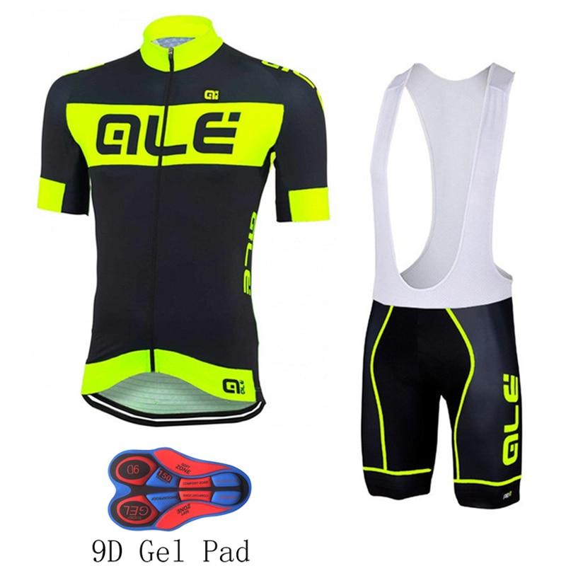 Prix pour Floraison Ale Hommes Pro Cycling Jersey Ciclismo ropa Vélo À Séchage Rapide ensemble Vélo vêtements à manches courtes d'été Ciclismo maillot 9D