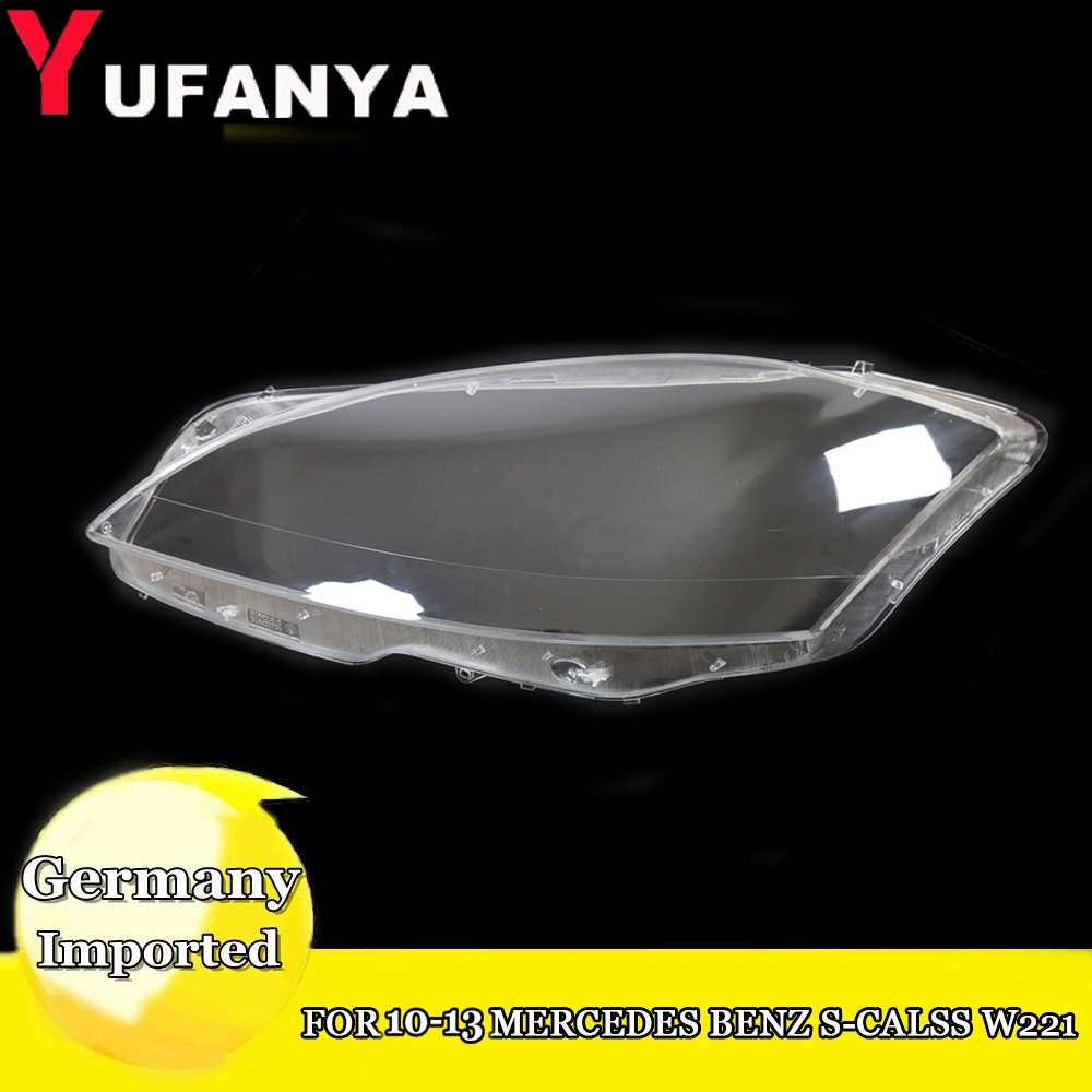 Left Right Headlight Lens Cover For Mercedes Benz S Class
