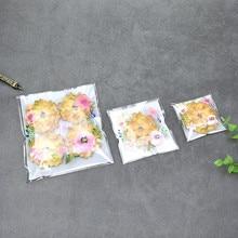 Lbitalic life sacos de biscoitos artesanais, saco auto-adesivo de embalagem para doces, biscoitos, presentes, comida