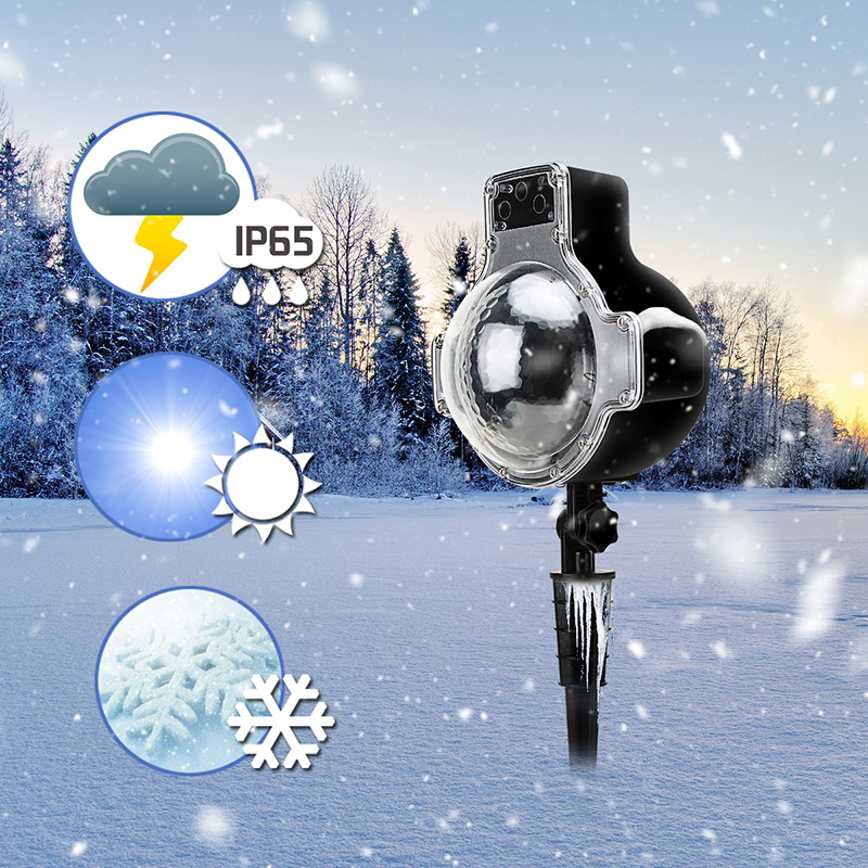 DSHA Christmas Projector Lamp Waterproof Snowflake Led Lights Wireless Remote Christmas Projection Lights Outdoor Xmas Halloween christmas heart snowflake halloween spider bowknot projector lights led stage lamps