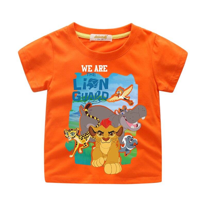Children Cartoon The Lion King Simba Printing Tee Tops Boy Summer Short T-shirt Clothes Girls Baby T Shirt Clothing For Kids