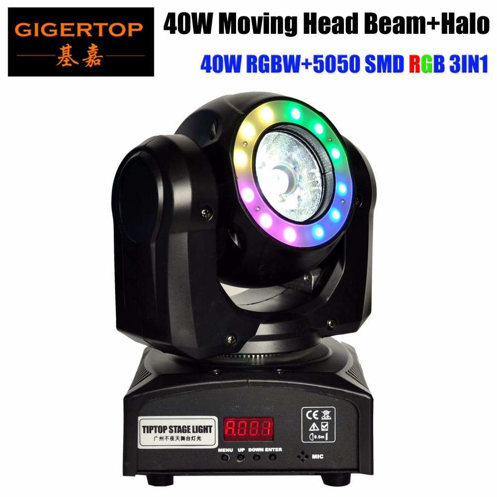 Gigertop TP-L682 40W Moving Head Beam With Halo Magic Ball 40W RGBW LED With 5050 SMD 3-in-1 RGB Individual Control 110V-220V