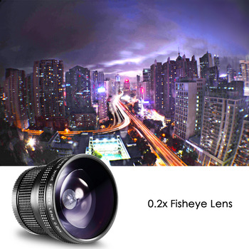 Neewer 52 MM 0.20X High Definition Super Breite AF Fisheye Objektiv Für Nikon D5300 D5200 D5100 D5000 D3300 D3100 D3000 D7100 D7000 D90
