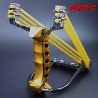 Мощный металлический Ностальгический охотничий инструмент большой охотничья Рогатка катапульта с 2 комплектами пружины 3x3 и зажимом фонар...