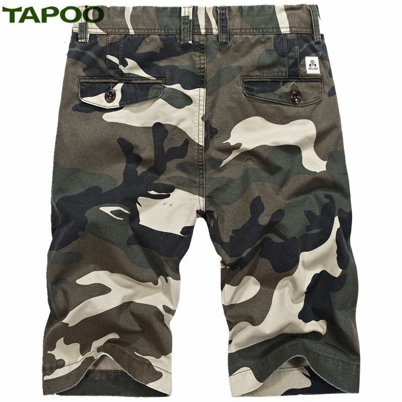 TAPOO Mens Casual Shorts Male Summer Shorts Mens Multi-Pocket Overalls Shorts Mens Army Camouflage Shorts With Larger Size