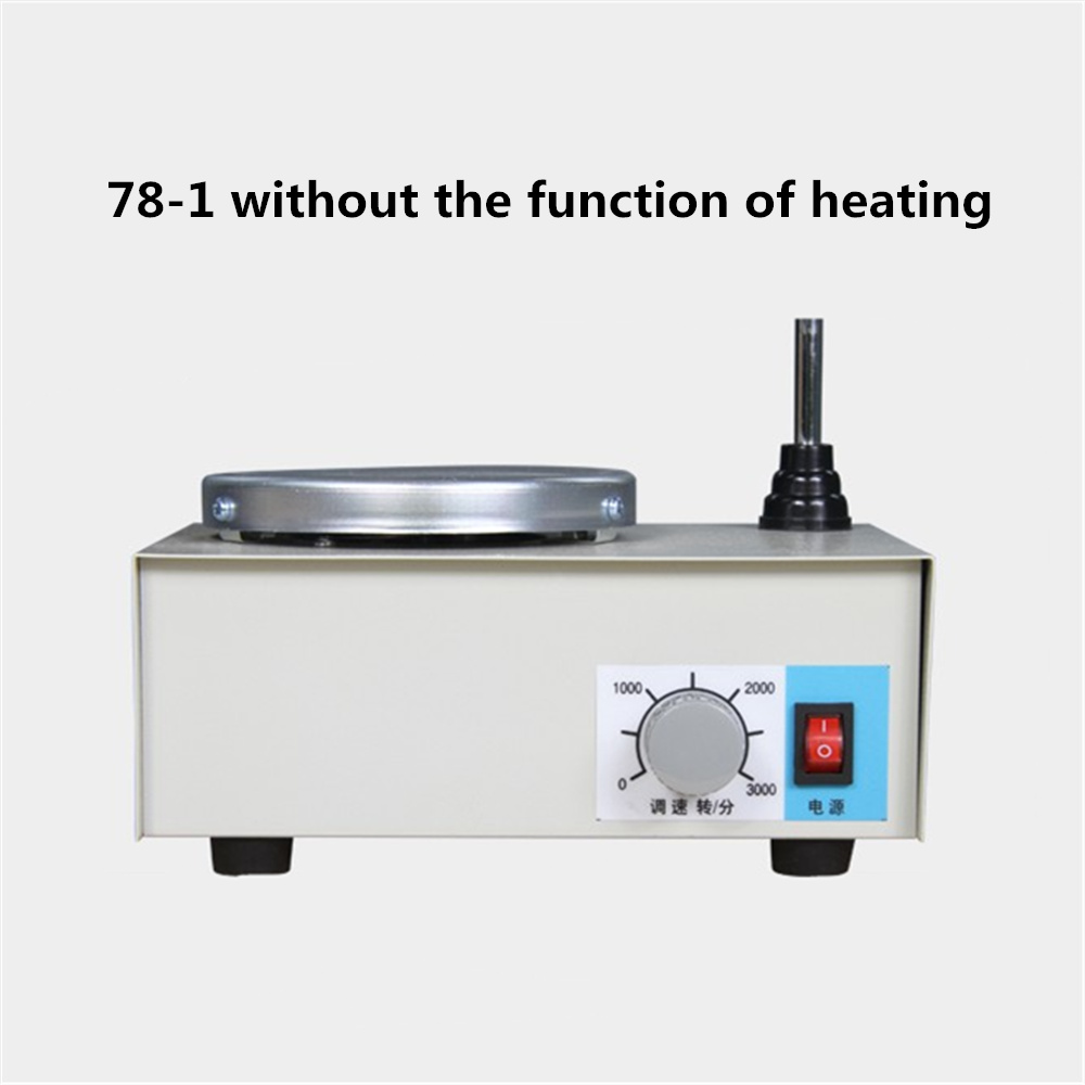 78-1 Lab Agitator Magnetic Stirring Apparatus Whisk Laboratory Beaker Mixing Tools Without The Function of Heating magnetic mixing ink roller isolated ring
