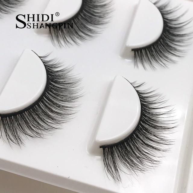 New 3 Pairs Natural False Eyelashes Fake Lashes Long Makeup 3d Mink