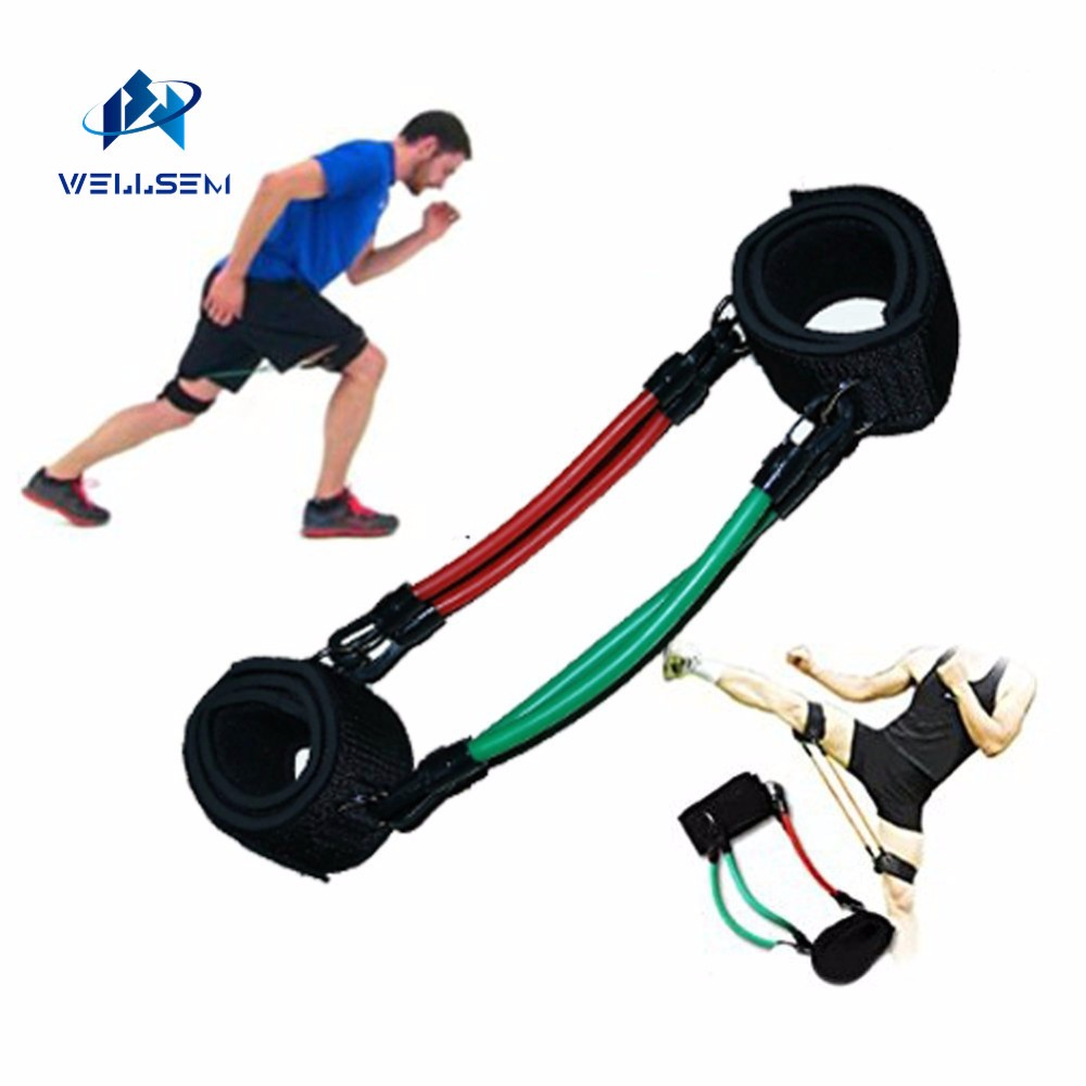Wellsem Kinetic Speed Agility Training Leg Running Resistance Bands Tubes Exercise For Athletes Football Basketball Players