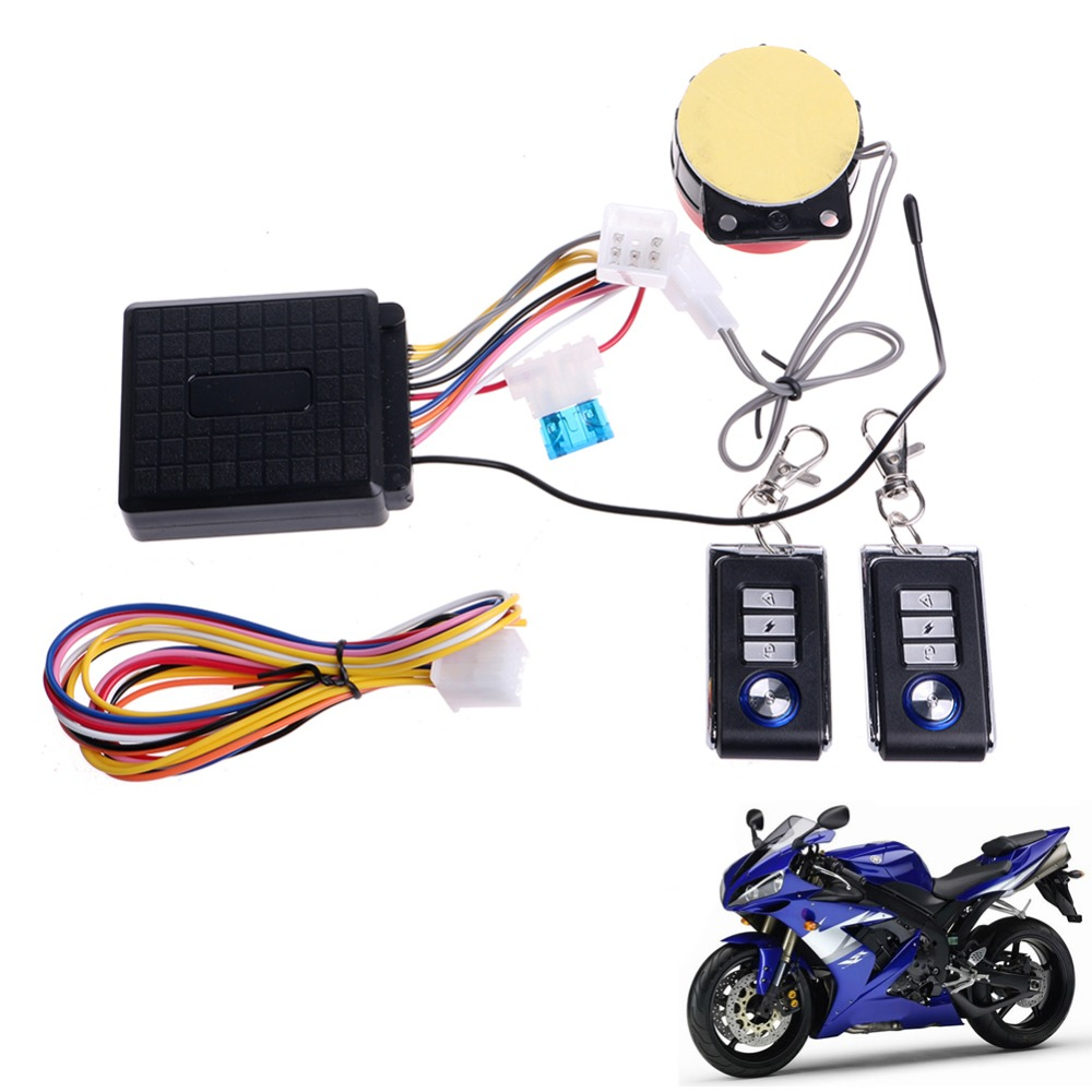 QILEJVS Motorcycle Scooter Remote Control Anti-theft Engine Start Alarm Security System