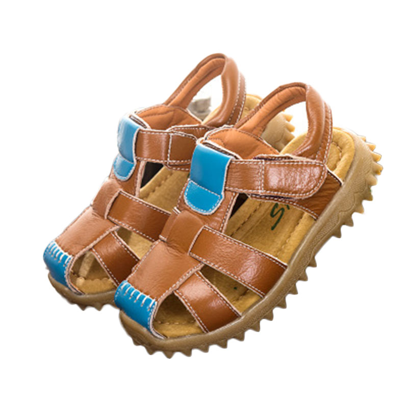 Sandals Children Beach Casual Leather Shoes Soft Breathable Cool Sandals 2018 New Comfortable Anti-slippery Boys Girls Sandals