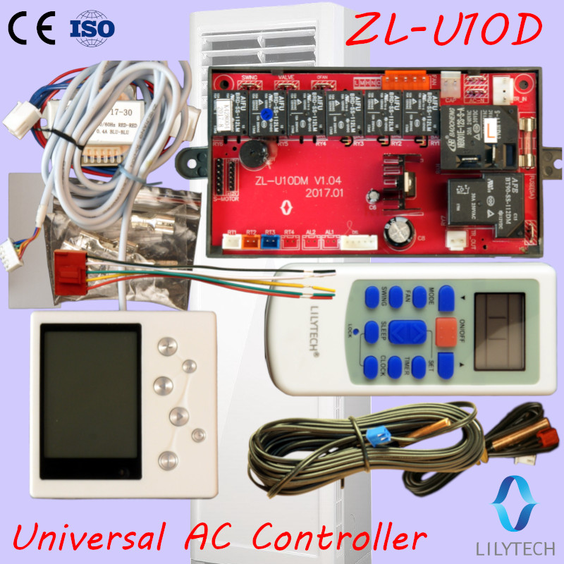 ZL-U10D, Universal A/C Control System, Cabinet AC Control PCB,Universal A C Controller,LCD Display,Lilytech Controller