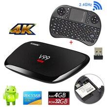 V99 Hero Android 5 1 4K TV Box RK3368 SGX6110 4G RAM 32G eMMC 4 USB