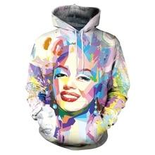 61938ad36667 New Marilyn Monroe Cool Hooded Sweatshirts Men Women Hoodies Autumn Winter  Casual Unisex Sweatshirts 3D Pullover