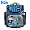 Delune School Bag 2016 Children Backpack High Quality 3D Car Print Army School Bags for Boys Child Bags Primary School Backpacks