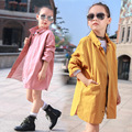 Children's New Girls Baseball Uniform Children Jacket Female Child Long Coat Spring and Autumn Kids Clothing Cotton Yellow Pink