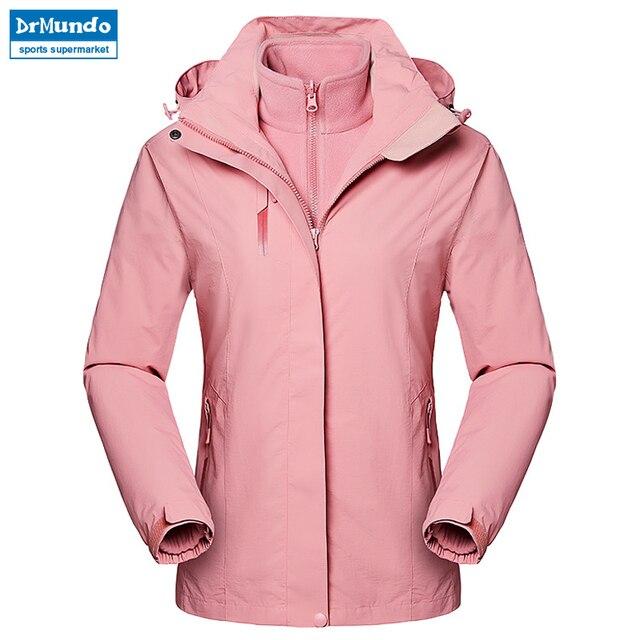 22c89aac6d 2018 New Waterproof Ski jacket Fleece White Windproof Snow Clothes Thermal  Women s Double Single Board Ski Suit Hiking Jacket