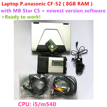 MB STAR C5 + Laptop 8GB RAM CF-52 CF52 + mb c5 2019.07V Software in HDD Vediam0 DTS MB SD Connect C5 Ready to use free shipping