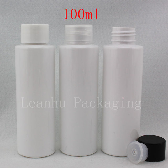100ml x 50 white empty cosmetic bottles for cosmetic. Black Bedroom Furniture Sets. Home Design Ideas