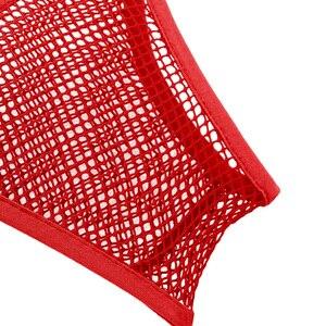 Image 5 - Regata feminina cropped transparente, lingerie vazada ombro larga decote em u profundo sutiã top