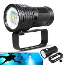 LED Diving Flashlight QX27 500W Fitteen 5050 White XML2 Six XPE Red R5 Six XPE Blue R5 LED 80m Flashlight for Diving Photography qh14 300w 28800 lumens six 9090 white xml2 four xpe red r5 four xpe blue r5 led diving light with 7 modes flashlight