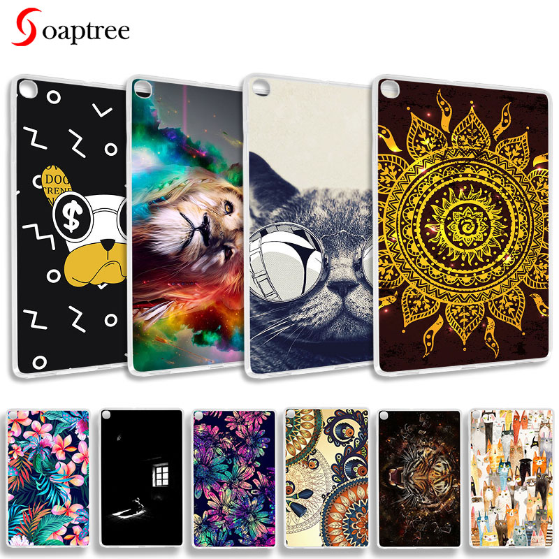 Painted Case For Samsung Galaxy Tab A 10.1 2019 SM-T510 T515 Tablet Cases Ultra Slim Soft Silicone TPU Back Tablet Cover Bumper