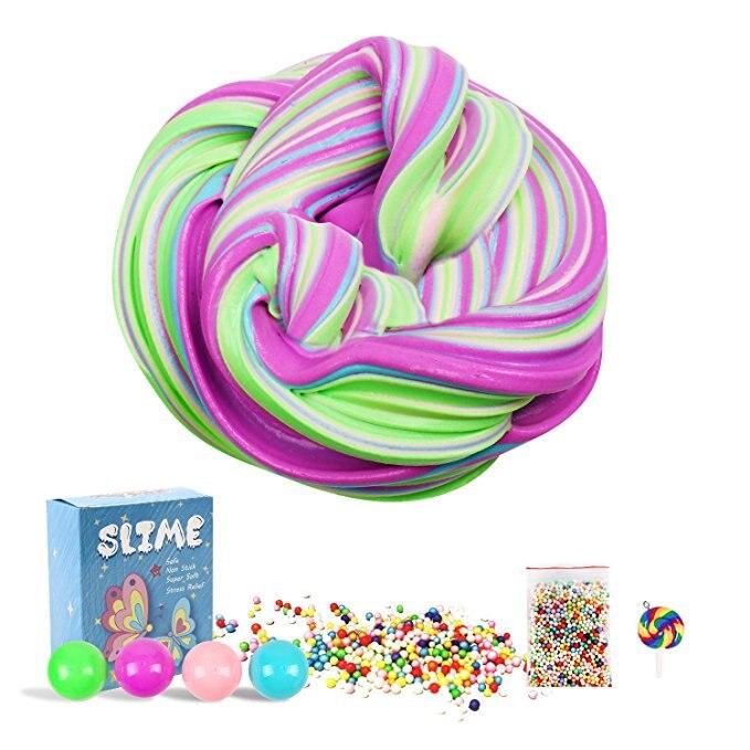 1PCS Egg Colorful antitress Slime Mud Creative Modeling Children Intelligent Magic Shiny Play dough Kids Clay Toys blue like play dough